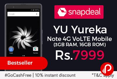 YU Yureka Note 4G VoLTE Mobile