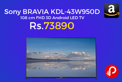 Sony BRAVIA KDL-43W950D 108 cm FHD 3D Android LED TV