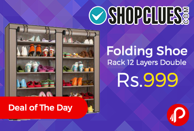 Folding Shoe Rack 12 Layers Double Just at Rs.999 - Shopclues