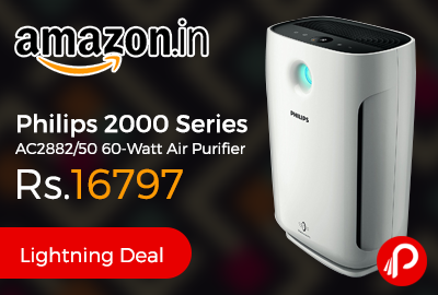 Philips 2000 Series AC2882/50 60-Watt Air Purifier Just at Rs.16797 - Amazon