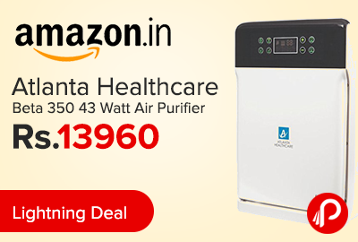 Atlanta Healthcare Beta 350 43 Watt Air Purifier Just at Rs.13960 - Amazon