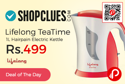 Lifelong TeaTime 1L Hairpain Electric Kettle