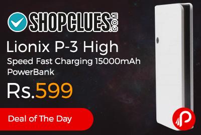 Lionix P-3 High Speed Fast Charging 15000mAh PowerBank