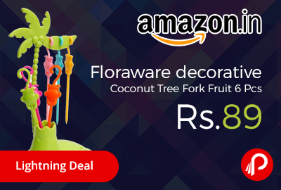 Floraware decorative Coconut Tree Fork Fruit 6 Pcs