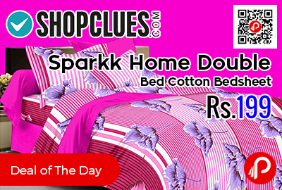 Sparkk Home Double Bed Cotton Bedsheet