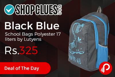 Black Blue School Bags Polyester 17 liters