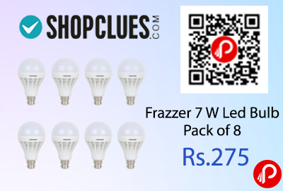 Frazzer 7 W Led Bulb Pack of 8
