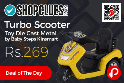 Turbo Scooter Toy Die Cast Metal