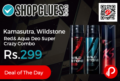 Kamasutra, Wildstone Red & Aqua Deo Super Crazy Combo