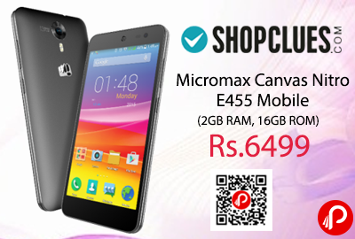Micromax Canvas Nitro E455 Mobile