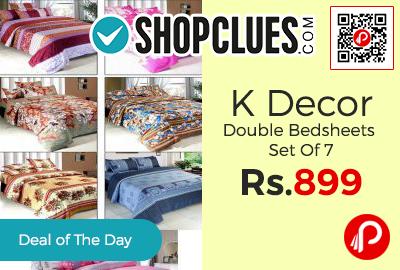 K Decor Double Bedsheets