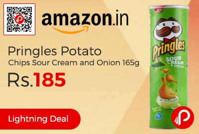 Pringles Potato Chips Sour Cream and Onion 165g