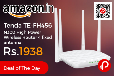 Tenda TE-FH456 N300 High Power Wireless Router 4 fixed antenna