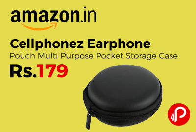 Cellphonez Earphone Pouch Multi Purpose Pocket