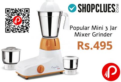 Popular Mini 3 Jar Mixer Grinder