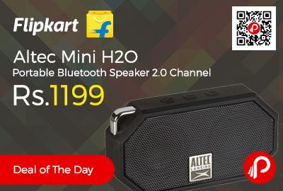 Altec Mini H2O Portable Bluetooth Speaker 2.0 Channel