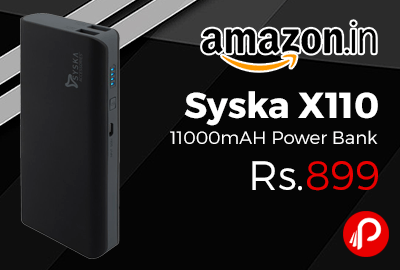 Syska X110 11000mAH Power Bank