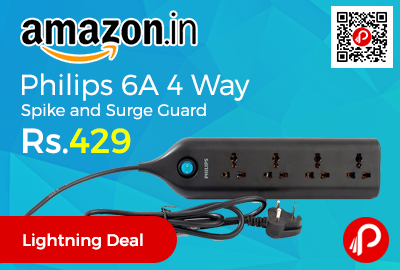 Philips 6A 4 Way Spike and Surge Guard