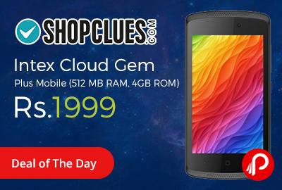 Intex Cloud Gem Plus Mobile