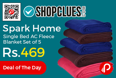 Spark Home Single Bed AC Fleece Blanket