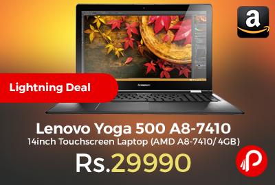 Lenovo Yoga 500 A8-7410 14inch Touchscreen Laptop
