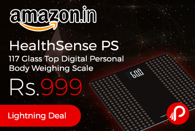 HealthSense PS 117 Glass Top Digital Personal Body Weighing Scale