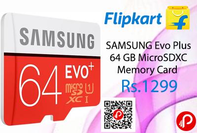 SAMSUNG Evo Plus 64 GB MicroSDXC Memory Card