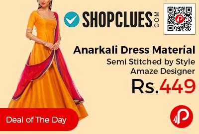 Anarkali Dress Material Semi Stitched