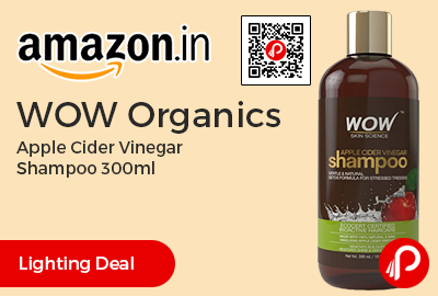 WOW Organics Apple Cider Vinegar Shampoo 300ml
