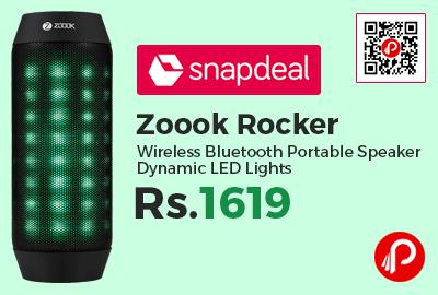 Zoook Rocker Wireless Bluetooth Portable Speaker Dynamic LED Lights
