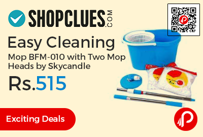 Easy Cleaning Mop BFM-010 with Two Mop Heads