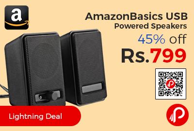 AmazonBasics USB Powered Speakers