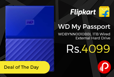 WD My Passport WDBYNN0010BBL 1TB Wired External Hard Drive