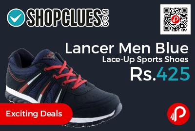 Lancer Men Blue Lace-Up Sports Shoes