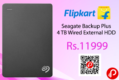 Seagate Backup Plus 4 TB Wired External HDD