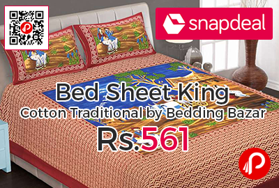 Bed Sheet King Cotton Traditional