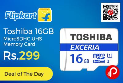 Toshiba 16GB MicroSDHC UHS Memory Card
