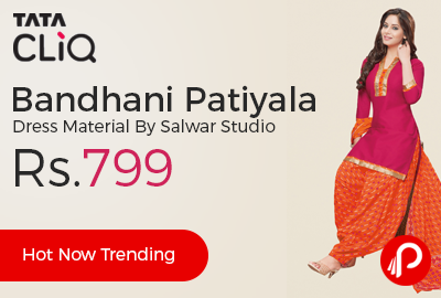 Bandhani Patiyala Dress Material