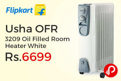 Usha OFR 3209 Oil Filled Room Heater White