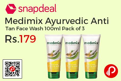 Medimix Ayurvedic Anti Tan Face Wash 100ml