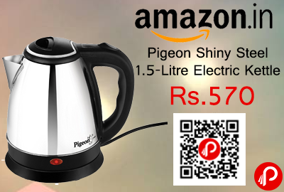 Pigeon Shiny Steel 1.5-Litre Electric Kettle