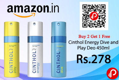 Cinthol Energy Dive and Play Deo 450ml