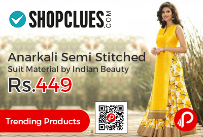 Anarkali Semi Stitched Suit Material