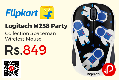 Logitech M238 Party Collection Spaceman Wireless Mouse