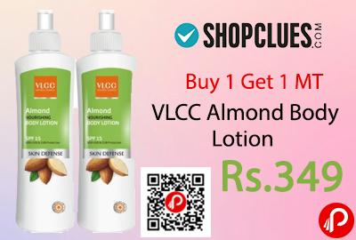 VLCC Almond Body Lotion Buy 1 Get 1 MT Offer
