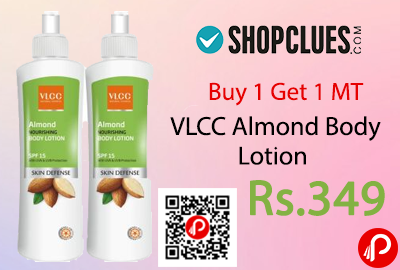 VLCC Almond Body Lotion Buy 1 Get 1 MT Offer