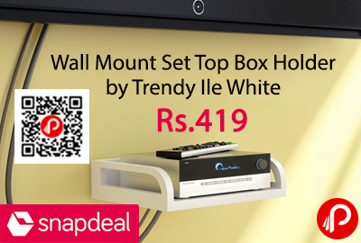 Wall Mount Set Top Box Holder