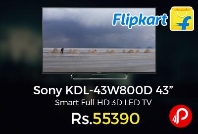 "Sony KDL-43W800D 43"" Smart Full HD 3D LED TV"