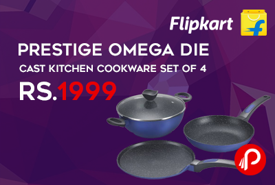Prestige Omega Die Cast Kitchen Cookware Set of 4