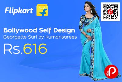Bollywood Self Design Georgette Sari